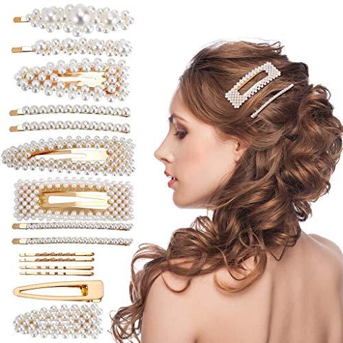 AIUSD Clearance , Hair Barrettes Hair Pins Decorative Wedding Bridal Artificial Pearl Hairpins (Hairpin Sign)