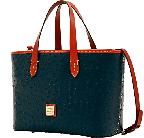 Leather Bourke (Dooney & Bourke Ostrich Brandy Satchel Black)
