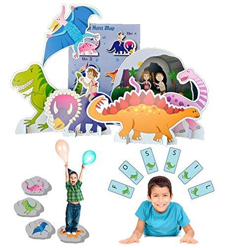 Lello and Monkey Dinosaurier Geburtstagsfeier Spiele für Kinder - Satz von 3 Lello and Monkey Limited.