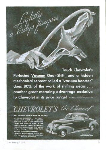 Coupe Shift - Vacuum Shift Chevrolet Master De Luxe Coupe ad 1939