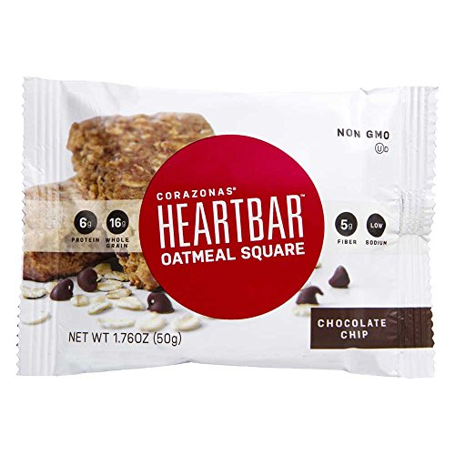 Corazonas Chocolate Chip 1.76 Ounce Heartbar, 12 count per pack -- 6 per case.
