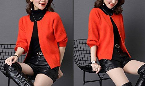 Ouvert Veste Printemps Tricot Cardigan Tricot Femme YOSICIL Lache w76q4X7g