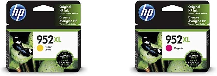 HP 952XL | Ink Cartridge | Yellow | L0S67AN & 952XL | Ink Cartridge | Magenta | L0S64AN