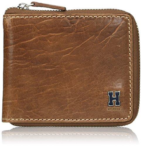 Tommy Hilfiger Men's RFID Blocking Leather Zip Around Bifold