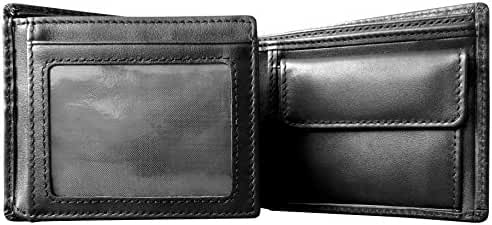 Mt. Everest RFID Blocking Trifold Bifold with Coin Pocket Mens Leather Wallet, High-End Build, Gift Box for Men