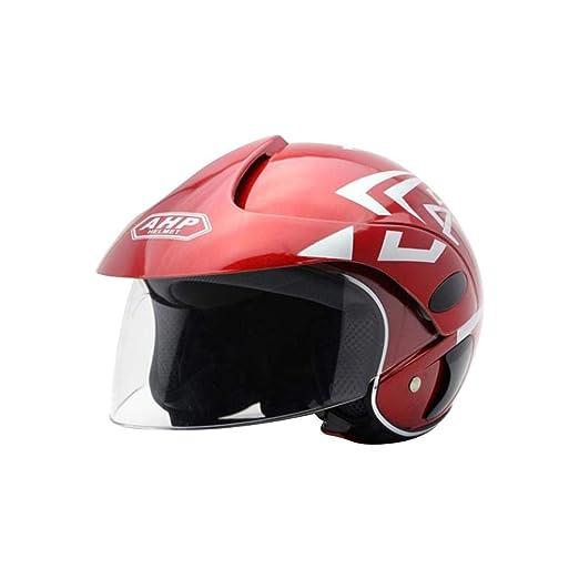 Medio Casco Seguridad Otoño e InviernoCasco Moto Electrica para ...