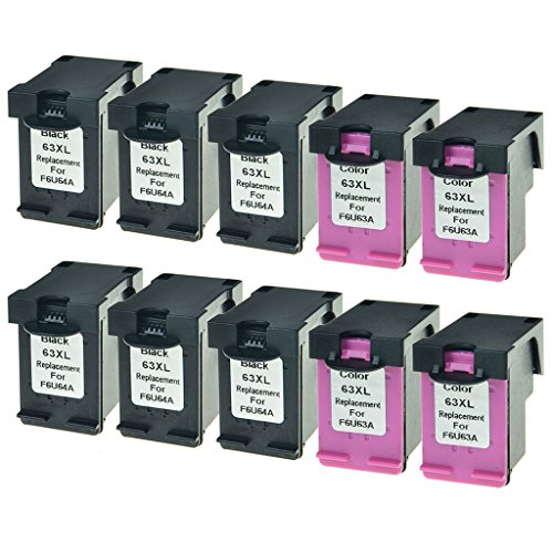 GREENCYCLE Hight Yield Ink Cartridge For HP 63XL F6U64A F...