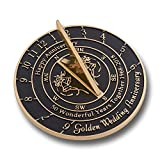 Golden Wedding Anniversary Sundial Gift