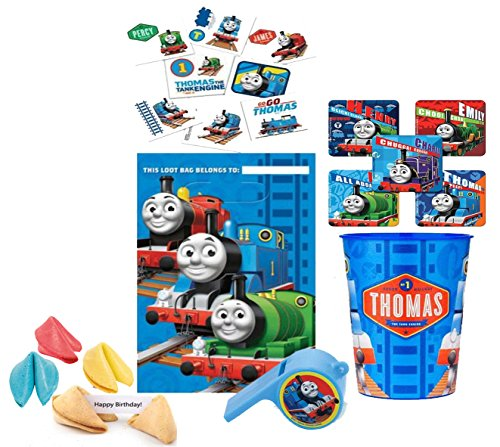 Thomas The Train PRE FILLED Party Favor Goodie Bag! Thomas The Tank Engine Loot Bag Included! Plus Bonus Birthday Fortune -