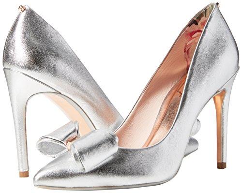 Azeline Fermé Argent silver Baker Bout Femme Escarpins Ted 5qzagw7