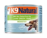 K9 Natural Canned Dog Food Supplement Booster Perfect Grain Free, Healthy, Hypoallergenic Limited Ingredients Dog's - Wet Dog Supplement (Lamb Green Tripe, 6oz 24 Pack)