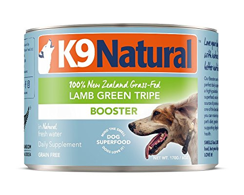 K9 Natural Canned Dog Food Supplement Booster Perfect Grain Free, Healthy, Hypoallergenic Limited Ingredients Dog's - Wet Dog Supplement (Lamb Green Tripe, 6oz 24 Pack) by K9 Natural