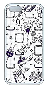 iPhone 5 5S Case Doodles TPU Custom iPhone 5 5S Case Cover White