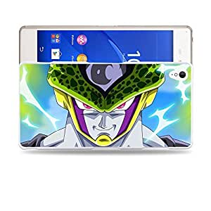 Case88 Designs Dragon Ball Z GT AF Cell (Super Saiyan Mode) Protective Snap-on Hard Back Case Cover for Sony Xperia Z3