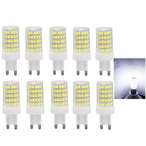 10W G9 LED Bombilla de Blanco Frío 6000K Luz de Maíz Con 850ml Lumenes 360 Grados