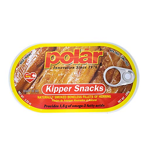 Smoked Herring Fillets - MW Polar Herring, Kipper Snacks, 3.53-Ounce (Pack of 18)