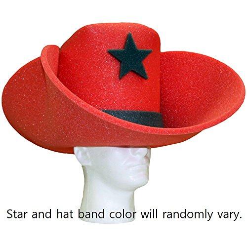 Foam Cowboy Hat Pink (Super Sized 50 Gallon Foam Cowboy Hat - Red)