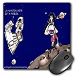 Londons Times Funny Music Cartoons - A Walk On The Moon - MousePad (mp_2087_1)