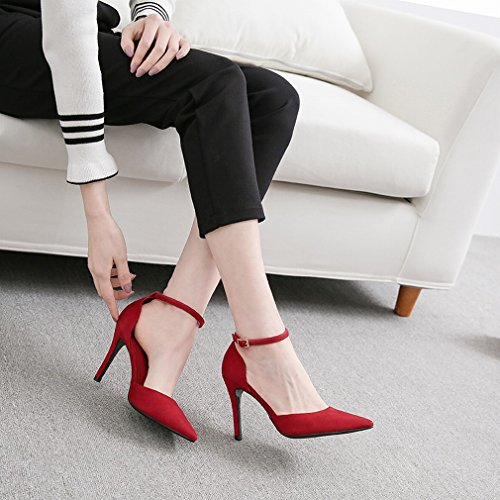 High Heels Female Fine with Pointed Wild Sexy Single Shoes C