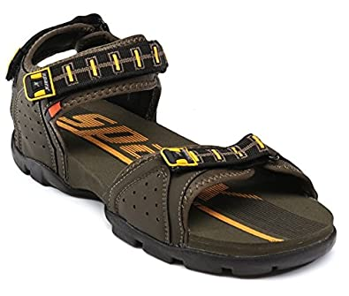4a7a3ec84 Sparx Men SS-107 Olive Yellow Floaters Sandals  Buy Online at Low ...