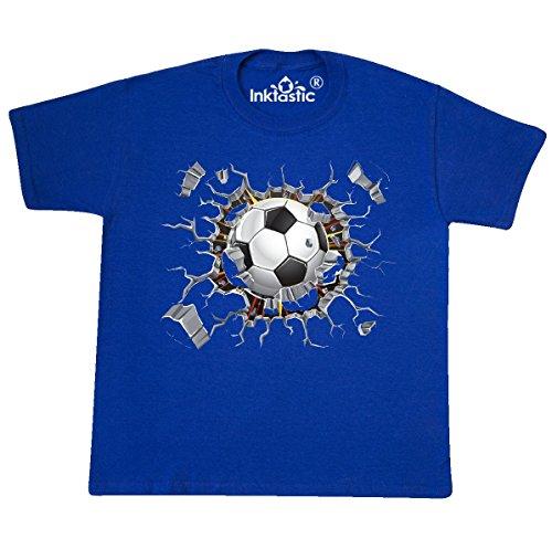inktastic - Soccer Youth T-Shirt Youth Medium (10-12) Royal Blue 2646d