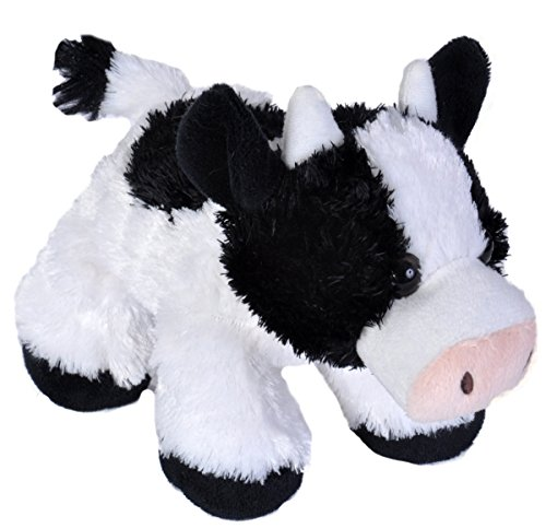Wild Republic Cow Plush, Stuffed Animal, Plush Toy, Gifts for Kids, Hug'Ems 7 -