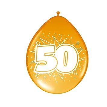 Amakando Esfera con número Cumple Globos cumpleaños 50 años ...