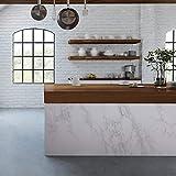 "practicalWs 11.8"" x78.7""Marble Paper Granite"