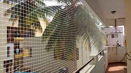 Pigeon-net-for-Balcony-1-Year-Guarantee-Nylon-ISI-Mark-6-feet10-feet-with-1-Cutter25-Clamps-InstallationWhite-Color