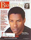 Biography Magazine March 2002 - Denzel Washington, Onassis Family, Melina Kanakaredes, Mata Hari