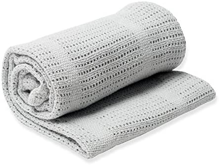 Cream mimixiong Pram /& Travel Extra Soft Cotton Cellular Baby Blanket