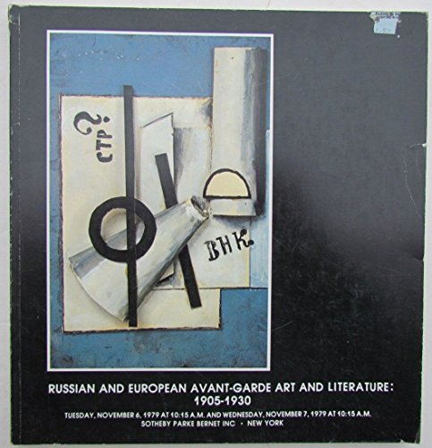 RUSSIAN & EUROPEAN AVANT-GARDE ART & LITERATURE SOTHEBY'S 1979 AUCTION CATALOG