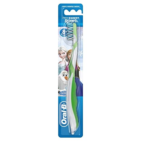 Oral-B CrossAction Cepillo de dientes manual con diseño de personajes de Frozen, varios