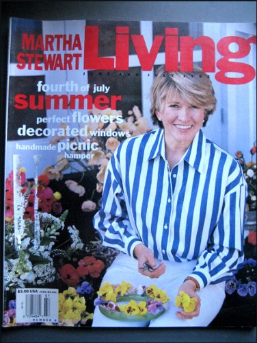 Martha Stewart Living Magazine June and July 1992 Number 8 Collecting Curtain Tiebacks, Guilding Mirrors, 4th of July Outdoor Feast, Italian Lunch Menu, Summer Blossoms Flower Arranging