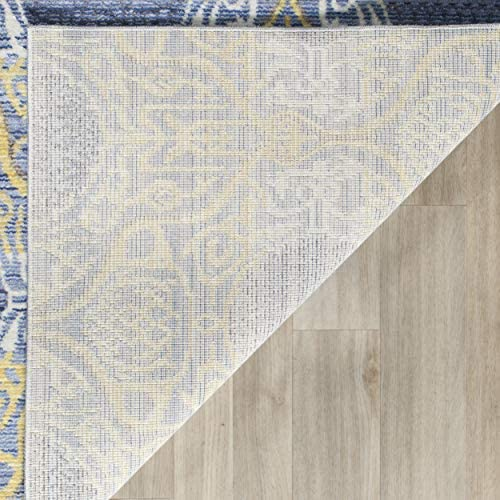 Safavieh Valencia Collection VAL106L Lavender and Gold Vintage Distressed Silky Polyester Area Rug 2 x 3