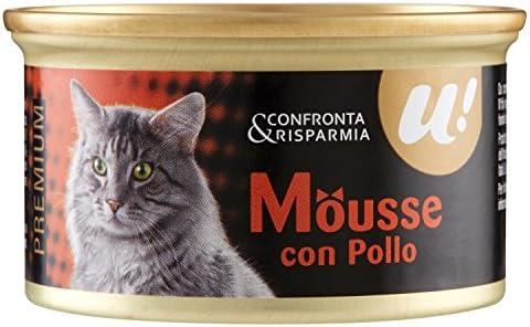 Unes, Comida Gato húmedo Mousse de Pollo: Amazon.es: Alimentación ...