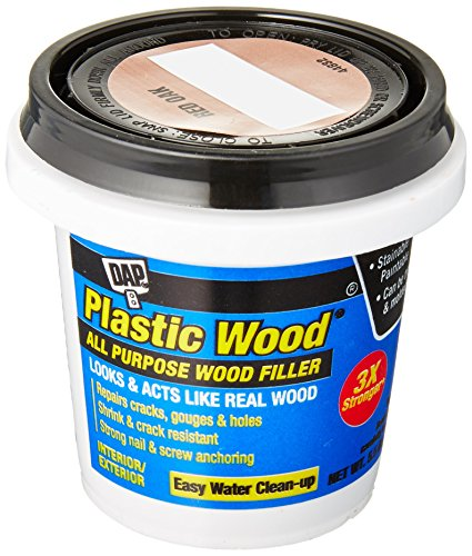 DAP 08116 Oak Plastic Carpenter's Latex Wood Filler, 5.5 oz, Red (Oak Plastic Wood)