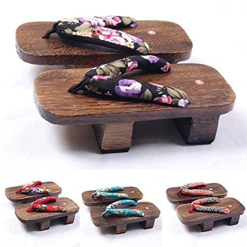 Geta Heel 4 Clog Japanese Flop Flip Sandal Jiyaru Style Wood High Women's aS4q1T