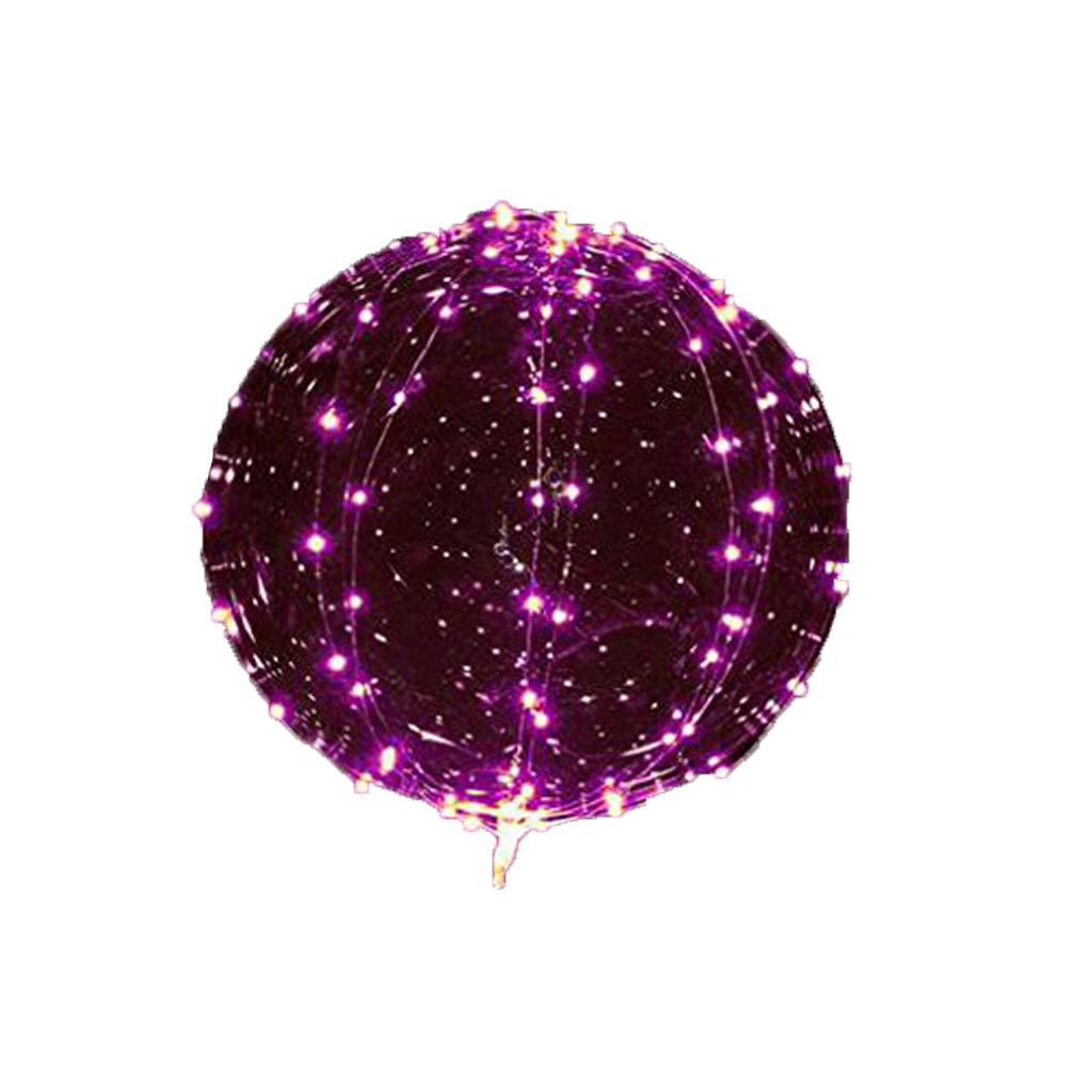 6 Pcs LED Balloons, Kicpot Transparent Pink Light Up Party Balloons with 3M Color Lamp Line Light Glow in The Dark Party Supplies