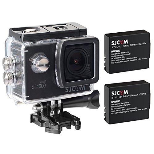 SJCAM Action Camera SJ4000 WiFi Wireless Chipset Novatek 96655 4x Digital Zoom Full HD 1080P Sport Waterproof 30m Extra 2 BatterieS