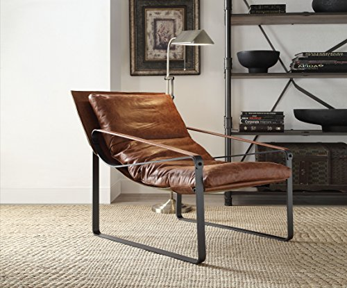 ain Leather Accent Chair (P9096674) (Cocoa Table Lamp)