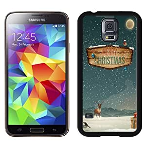 Easy use Cell Phone Case Design with Merry Christmas Raindeer Presents Galaxy S5 Wallpaper