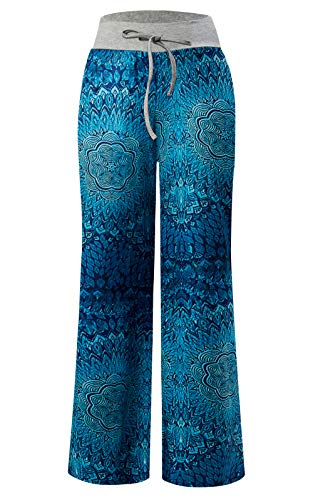 Pigiama Trousers Boho Leg Pantaloni Pants Wide Boho Harem Jogging Yoga Flower Donna Loveternal qY10xPBY