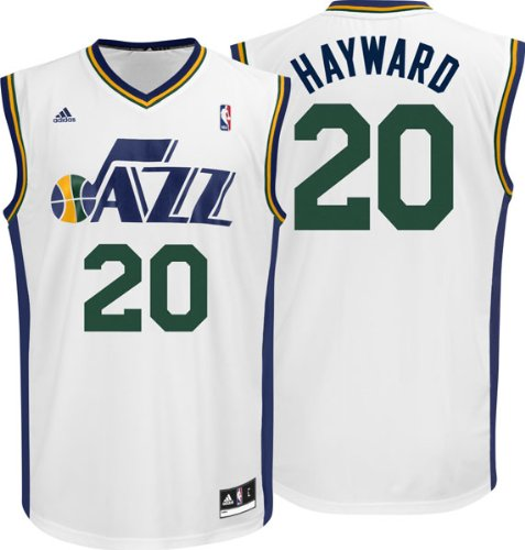 huge discount 3f896 dd6bb adidas Gordon Hayward Utah Jazz NBA Men's White Replica Jersey