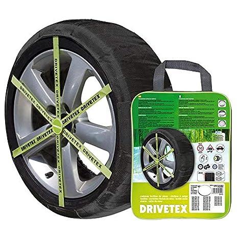 DRIVETEX73 - Kit 2 fundas-cadenas textiles turismos DRIVETEX hielo/nieve talla 73 y 2 guantes para el montaje.: Amazon.es: Coche y moto