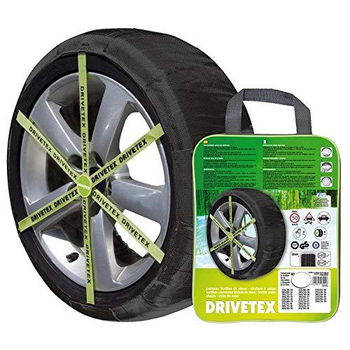 Drivetex - Coppia di calze da neve per pneumatici da turismo, misura 79 e guanti per il montaggio inclusi