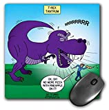 3dRose Rich Diesslins Funny Out to Lunch Cartoons - T-Rex Tantrum - Further