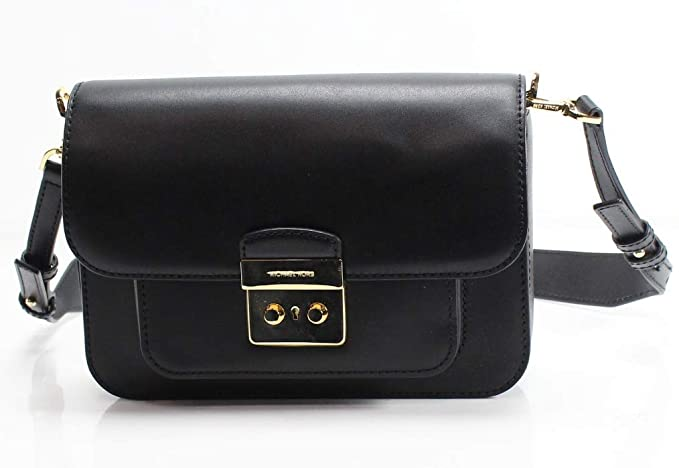 1e93d22a1970 Michael Kors Sloan Editor Leather Shoulder Bag - Black - 30T7GS9L3L ...