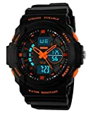 Auspicious beginning Durable outdoor series waterproof multi-functional dual time LED sports watch