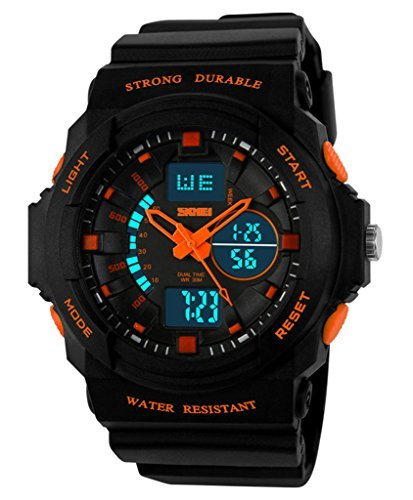 Auspicious beginning Durable outdoor series waterproof multi-functional dual time LED sports watch by Auspicious beginning